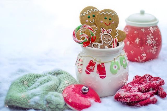 decoração de inverno com biscuit